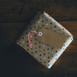 Generic gift-wrapped package for display purposes only