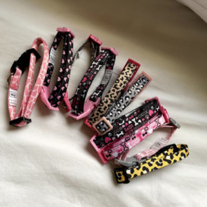 Simply Wag Pretty In Pink Dog Collars All Colors Side By Side
