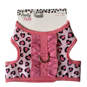 Simply Wag Pretty In Pink Small Dog Harness Top Side No Background