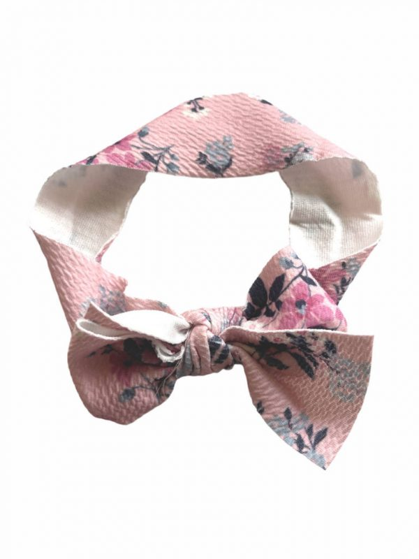 Ava Olivia Pet Bow Tie Head Band Rough Floral
