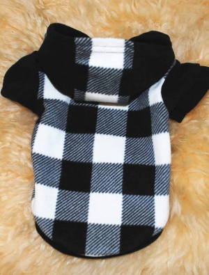 Pet Warmth Flannel Hoodie Back