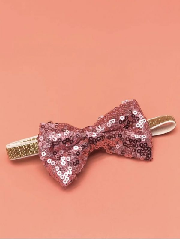 Sequin Decor Birthday Hat & Bow Tie Bow Tie