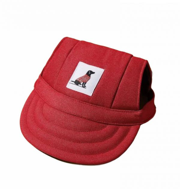 Simple Pal Sunny Baseball Cap Red Side White Background