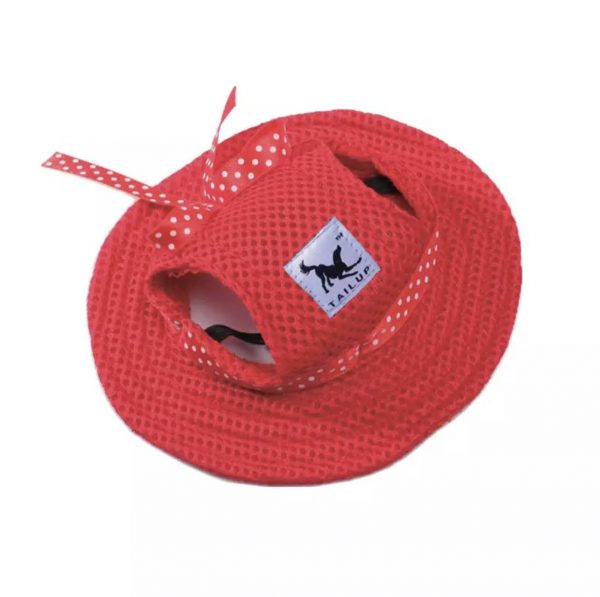 Tail Up Pet Sunshine Hat Red