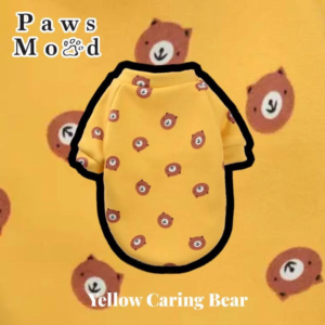 Arty Silly Shirt Pet Tee Yellow Caring Bear Yellow Caring Bear Background