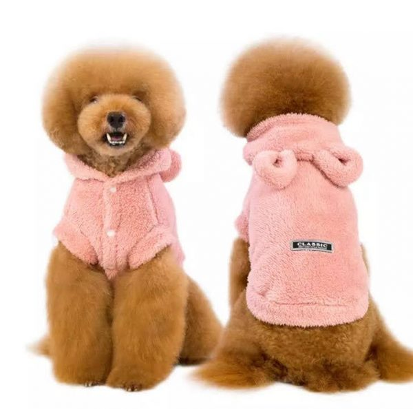 Classic Best High Style Fashion Pajama Hoodie On A Dog Front And Back