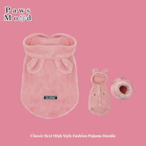 Classic Best High Style Fashion Pajama Hoodie Pink Background
