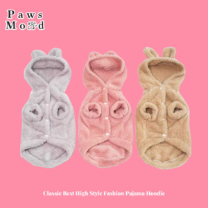Classic Best High Style Fashion Pajama Hoodie Three Colors Pink Background