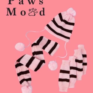 Pet Winter Collection Set Pink Background 2