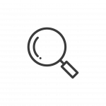 grey magnifying glass